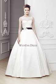 strapless appliqued ball gown black garden wedding dress