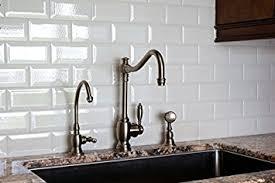 Tiles For Backsplash In Bathroom by White Crackled Bevelled 3x6 Subway Tile Backsplash Kitchen Walls