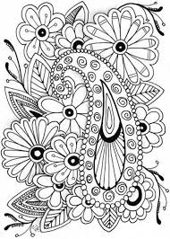 Art Flower Coloring Pages Panda