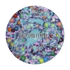 UNICORN CEREAL 8 Oz Blue Thick Clicky And Glossy Slime