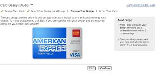 Just customizing my Wells Fargo debit card