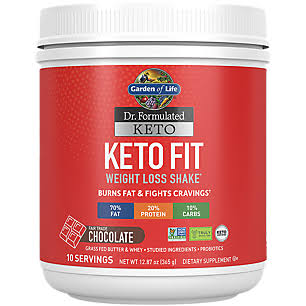 Garden of Life Keto Fit Dietary Supplement - Chocolate, 12.87oz