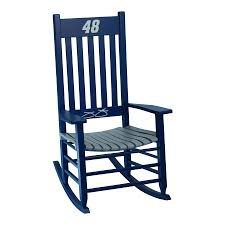 shop hinkle chair company hinkle nascar rockers blue gray rocking