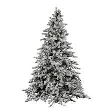 Vickerman 9Ft Flocked White On Green 2443 Tips Christmas Tree