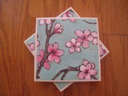 how to make a ceramic tile coaster set