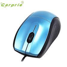 souris pour ordinateur de bureau carprie petit usb 3 bouton de défilement optique filaire souris