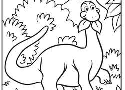 Cute Dinosaur Coloring Page