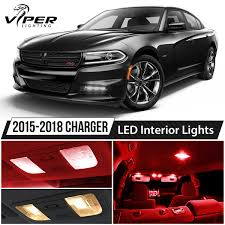 2015-2018 Dodge Charger Red LED Interior Lights Package Kit | EBay