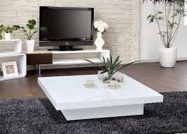 Living Room Table Sets With Storage by 1005c Modern White Lacquer Coffee Table La Furniture Living