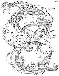 Pin Drawn Chinese Dragon Coloring Page 4