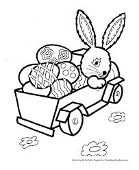 Bunny Truckload Of Easter Eggs