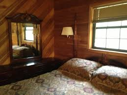 The cabin es with heating and air conditioning cable TV washer dryer microwave dishes and linens There is a large parking area and campfire fire