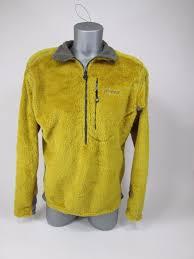 patagonia men u0027s medium r1 fuzzy fleece pullover sweater mustard