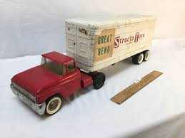 Structo Toys Tractor Trailer Truck, Vintage 1950s Structo Hydraulic Toy Dump Truck Vintage Light 992 Lot 569 Toys No7 City Of Toyland Pressed Steel Utility Farm White Colored Hard Plastic Lamb Accessory Corvantics Corvair95 Vintage Structo Toys Pressed Steel Truck And Trailer Model Antique Toy Livestock Vintage Metal Toy Wrecker Truck Oilgas Red Good Hilift High Lift Lever Action Blue And Yellow 1967 Turbine 331 Auto Transporter Wcars Ramp Colctibles Signs Gas Oil Soda