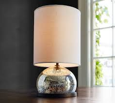 Mini Stacked Mercury Glass Table Lamp