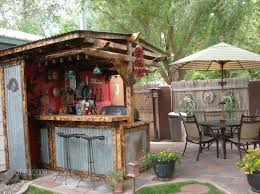 Likeable Kitchen Best 25 Rustic Outdoor Bar Ideas On Pinterest Of