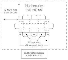 Dining Table Width Minimum Space Around 60cm