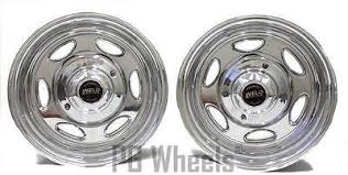 16x8 WELD RACING WHEELS POLISHED 8 LUGS FORD TRUCK 16 SET OF