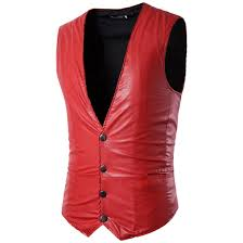 popular leather vest sleeveless jacket men buy cheap leather vest