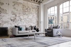 wohnzimmer mit steinwand im shabby chic wohnzimmer