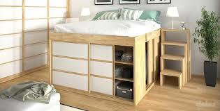 lit avec bureau int r lit en hauteur lit en hauteur contemporain avec
