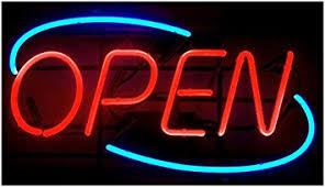 Amazon OVAL REAL GLASS BRIGHT NEON OPEN SIGN LIGHT OPEN