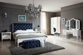 schlafzimmer set designer chesterfield bett nachttische kommode schrank möbel