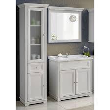 badezimmer möbel set 3tlg inkl 80 cm keramik waschbecken im retro loo