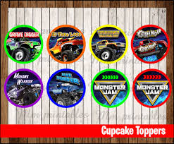 80% OFF SALE Monster Jam Party Cupcakes Toppers Instant Download ... Personalised Monster Truck Edible Icing Birthday Party Cake Topper Buy 24 Truck Tractor Cupcake Toppers Red Fox Tail Tm Online At Low Monster Trucks Cookie Cnection Grave Digger Free Printable Sugpartiesla Blaze Cake Dzee Designs Jam Crissas Corner Cake Topper Birthday Edible Printed 4x4 Set Of By Lilbugspartyplace 12 Personalized Grace Giggles And Glue Image This Started