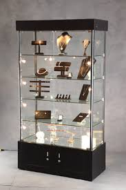 lighted tower display jewelry display lockable showcase
