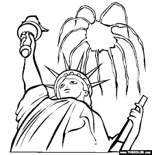 Fourth Of July Online Coloring Page