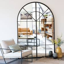spiegel mit schwarzem metallrahmen 137x200 maisons du