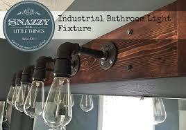 DIY Industrial Bathroom Light Fixture