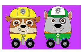 New Kids Surprise Eggs Rocky Paw Patrol Rubble Egg Race Kids Cartoon Episode Animation
