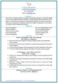 civil engineering resume doc 1 career word doc