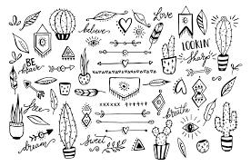 Boho Cactus Feather Arrow Clipart By SkylaDesign