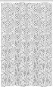 abakuhaus duschvorhang badezimmer deko set aus stoff mit haken breite 120 cm höhe 180 cm retro graustufen vortex spots kaufen otto
