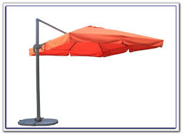 square offset patio umbrella with netting patios home