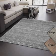 details zu wohnzimmer teppich grau beige braun kurzflor meliert modern pflegeleicht trend