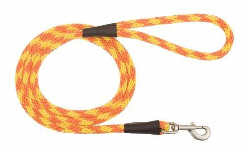 "Mendota 01546 Small Snap Leash 3/8"" x 6' - Amber"