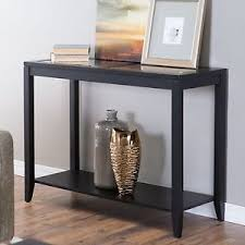 Image Is Loading Glass Top Console Table Quatrefoil Underlay Modern Black