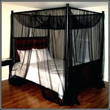 Twin Metal Canopy Bed Pewter With Curtains by Queen Canopy Bed Frame U2013 Vectorhealth Me