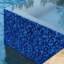 pool tile jules 1x1 glass series bright cobalt blue blend 9575