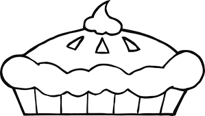 Thanksgiving Pie Clipart Black And White 06