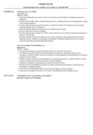 Urban Planner Resume Examples