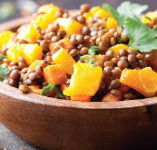 cuisine des lentilles salade lentilles potiron recette facile gourmand