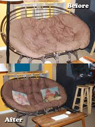 Kelsyus Original Canopy Chair With Ottoman by Papasan Cushion Restuff Good To Know For My Free I Just Chair With