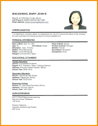 Resume Template 2018 Malaysia With Samples Job Free Templates Excel Formats Sample For Prepare Stunning