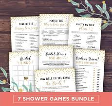 Bridal Shower Games Printable Instant Download Wedding Package Bingo Movie Quotes Match Gold Glitter Whats On Your Phone 2563407