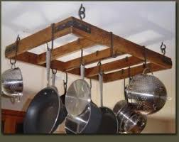 Wooden Hanging Pot Rack